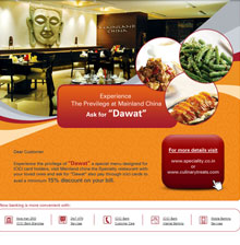 ICICI Bank Culinary Treat Mailer