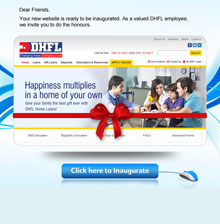 DHFL New Website Launch Mailer
